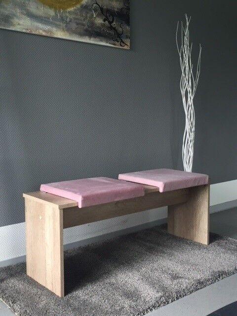 Klemm-Kissen (60009) mit 1 Leiste weiches Sitz-Kissen für Sitz-Bank blau rosa