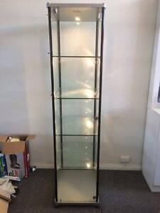 Glass, lockable cabinet, complete with lights Fyshwick South Canberra Preview