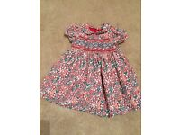 John Lewis floral pattern dress (6-9 months)
