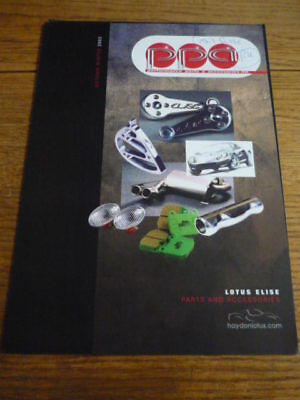 LOTUS ELISE PERFORMANCE PARTS AND ACCESSORIES EQUIPMENT CAR BROCHURE
