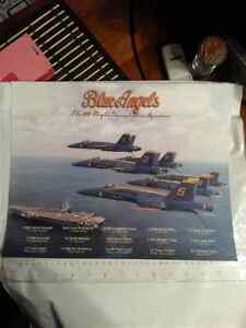Military Aircraft Plane Jet Blue Angels Photo / Picture Framable