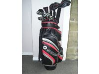 Yonex golf clubs full set of Ezone Woods, Irons and rescue clubs