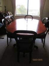 ANTIQUE DINING TABLE and 6 BALLON CHAIRS Cameron Park Lake Macquarie Area Preview