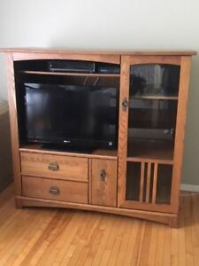 TV Entertainment Center and Round Table