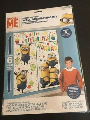Despicable Me Minions Birthday Scene Setters Wall Banner Party - Despicable Me Scene Setter