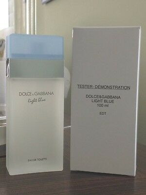 DOLCE GABBANA LIGHT BLUE 3.3 oz WOMEN'S EDT 100ML 3.4 NEW IN BOX W CAP TST