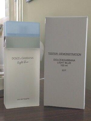 DOLCE GABBANA LIGHT BLUE 3.3 oz WOMEN�S EDT 100ML 3.4 NEW IN BOX W CAP TST
