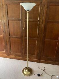 Brass effect standard uplighter