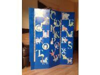 Beautiful Child's Alphabet Room Divider