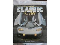 50 YEARS OF CLASSIC CARS HARDBACK BOOK BY JONATHAN WOOD, 320 PAGES OF QUALITY PHOTOS AND INFO