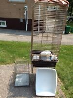 Birdcage, Pet Carrier and Litter Pan for Sale