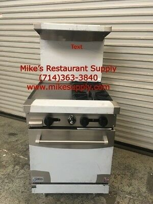New 24 2 Burner 12 Griddle Range Oven Gas Stratus Sr-2g12 7225 Commercial Nsf