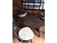 Ercol Table & 3 Chairs Needs Restoring