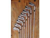 TAYLORMADE R11 IRON SET 4-SW 8 CLUBS KBS STEEL SHAFTS