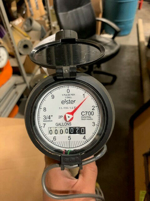 "C700 Water Meter, 3/4"", Including Pulse Output and Connections (GALLONS)"