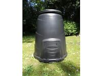 Compost Bin 330 Litre with lid and front hatch. Black .Blackwall. Used. Cleaned and ready to go.