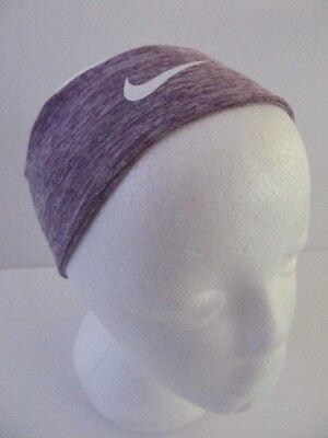 0dc0b4a1ad8a2d Nike Heather Fury Headband Vivid Purple Heather White OSFM New