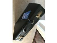 Leather brief case - never used