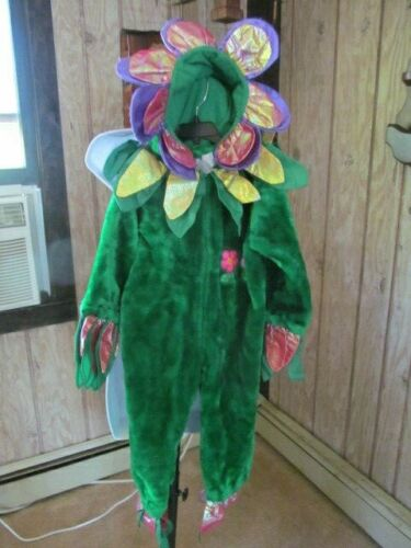 Flower Halloween Costume Plush  Size 4 to 6 years 1 Piece