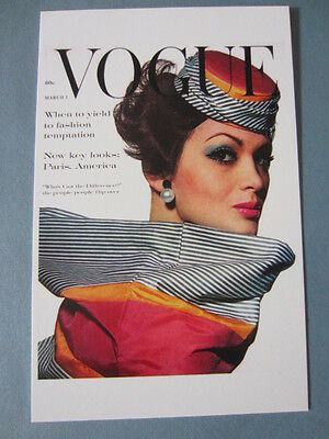 MINT POSTCARD VOGUE COVER IRVING PENN MARCH 1, 1961