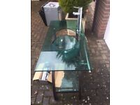 Glass Washbasin Complete with Stand and Taps