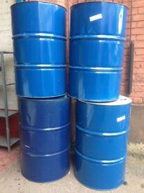 Matching plain blue oil pan steal drum barrels for sale can cut can deliver