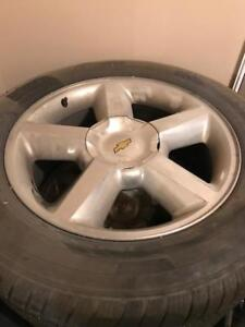 6 bolt Chev rims and tires