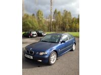Bmw ti se compact,2003, excellant condition throughout,auto,clean,£895,full service history,long mot