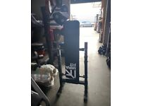 Mirafit Weights bench, barbell and bench , Foldable