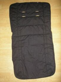 Black Mothercare Cosytoes, universal fit for any pushchair/pram