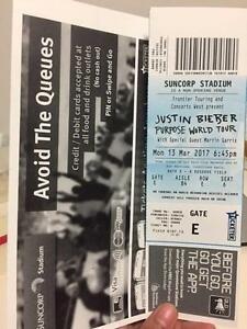 Justin Bieber Concert Ticket Brisbane March 13 The Range Rockhampton City Preview