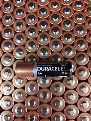 100 x AA DURACELL COPPERTOP ALKALINE BATTERY-1.5V-FRESH2027 GENUINE