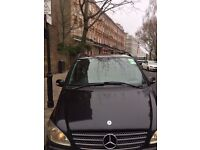 MERCEDES VIANO BLACK 2.2 DIESEL EXTRA LONG 7SEATS, PCO REGISTERED LEATHER INTERIOR FULLY LOADED