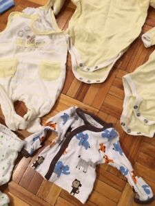 Selection of baby preemie cloths