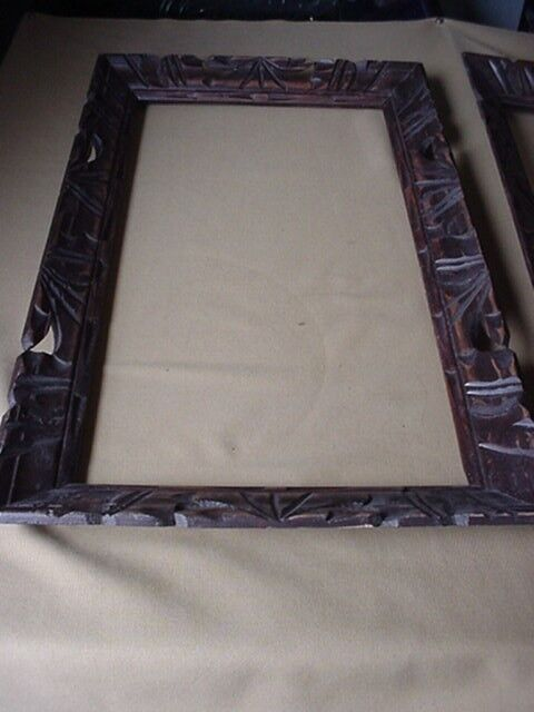 2 Beautiful Pre-Owned Vintage Hand Carved Wood Picture Frames