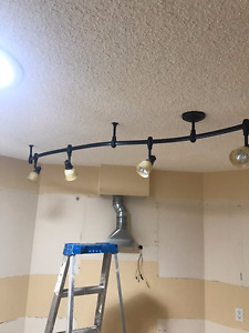 Bronze flexible ceiling track light