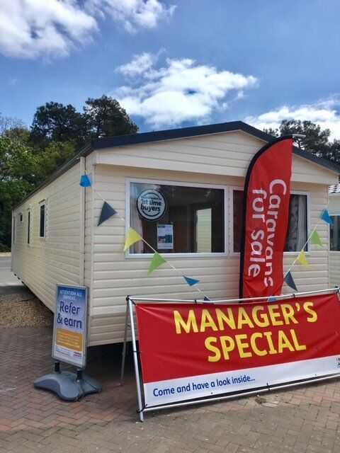 Cheap Pre-owned static caravan near Poole and Bournemouth. Atlas Moonstone 3bed