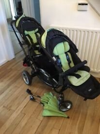 OBABY ZOOM ABC Double Buggy