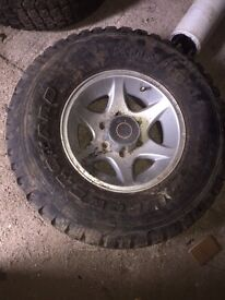 31x10.5R 15LT Alloy Wheels and Tyres
