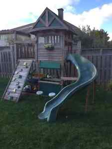 Children Treehouse with Slide