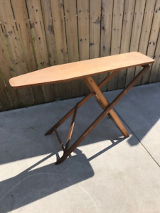 Old 50's Pine Wood Ironing Board