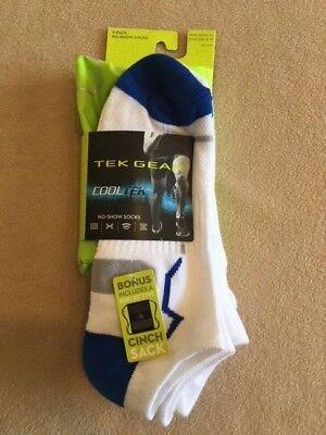 Tek Gear Mens Cool Tek Low Cut Socks (3-pairs) plus bonus Cinch (Gear Low Cut Socks)