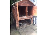 Two Tier Guinea Pig Hutch - Pitched felt roof - Solid construction - FREE TO GOOD HOME