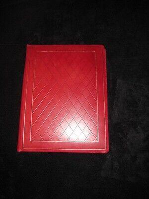 New Bontruper Red Genuine Leather 24k Gold Gilded Diamond Weave Folder
