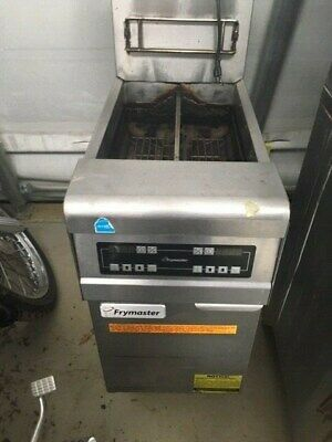 Frymaster Single Bay Dual Basket Deep Fryer Commercial Nat. Gas W Electric Cont