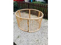 Foldable Round Wooden Playpen