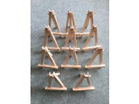 11 x mini wooden easels for sale