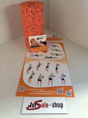 Blackroll - orange PRO 30cm  Massagerolle  Übungs  DVD  Übungs Poster NEU