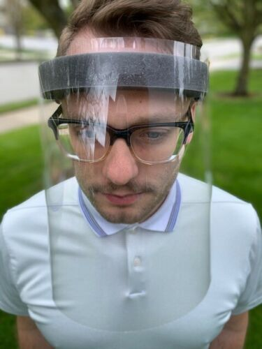 Clear Protective Eye and Face Shield - Medical, Dental, Retail or Personal Use