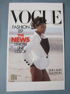 MINT POSTCARD VOGUE COVER PETER LINDBERGH JANUARY 1989